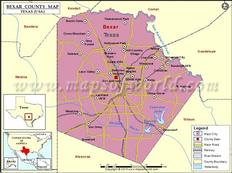 where is bexar county texas on the map bexar county map map of bexar county texas