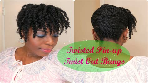 how to pin up natural hair 81 natural hair tutorial twisted pinup twist out bangs