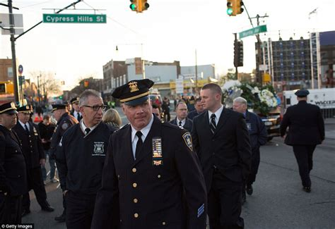 family of murdered nypd officer arrive at his