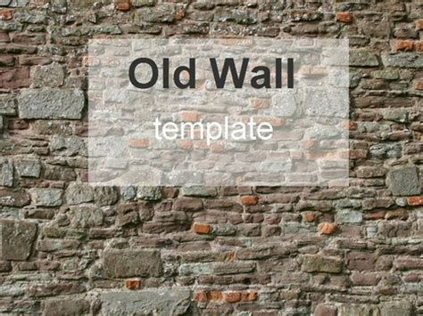 Old Wall Template Wall Powerpoint Template