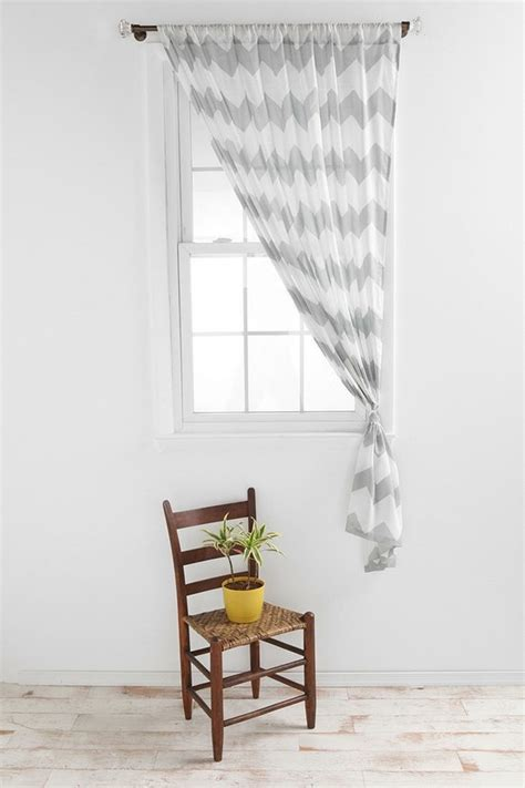 White Chevron Curtains White Gray Chevron Sheer Curtains Dining Room My House Grey Chevron
