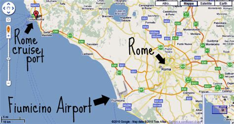 civitavecchia map rome cruise terminal where it is how to get there