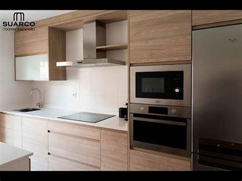 cocina moderna nordica  encimera de silestone blanco