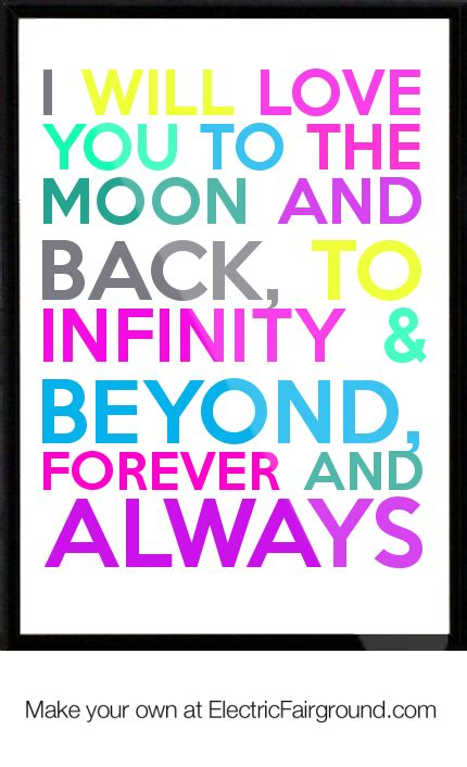 i you to infinity and beyond books i you to the moon and back quotes quotesgram