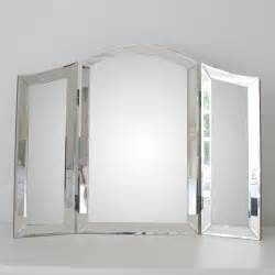 all glass dressing table mirror