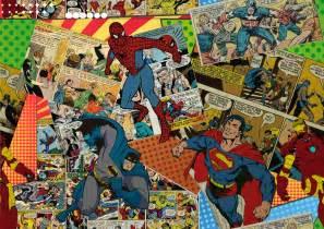 Iron Man Home Decor comic collage scarf sploosh design