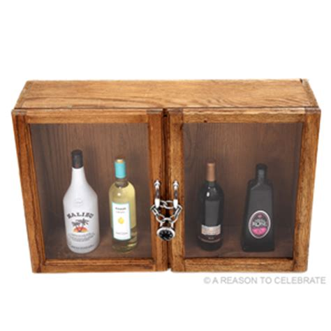 Liquor Cabinet With Lock by A Reason To Celebrate Liquor Cabinet