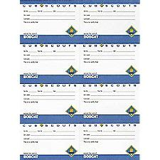 cub scout advancement card templates bobcat pocket certificate 8 sheet