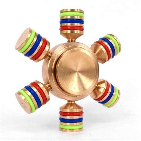 Fidget Spinner Toys 6 sided fidget spinner finger brass fidget spinner