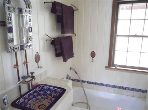 Mexican Tile Bathroom Ideas Mexican Style Bathrooms Beautiful Ceramic Sink With Built Rustic Copper Faucets New