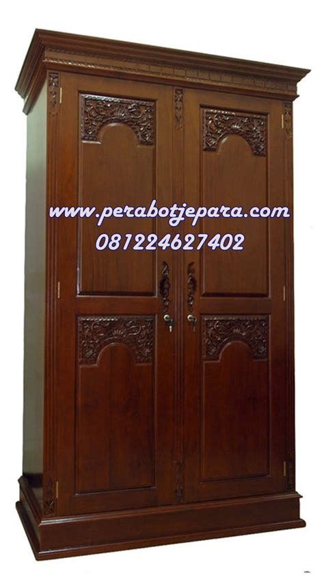 Lemari Kayu Jati Pintu 2 harga lemari pakaian majapahit 2 pintu kayu jati perabot jepara perabot jati toko perabot