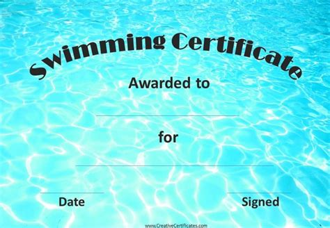 swimming certificates templates printable swimming certificates pictures to pin on
