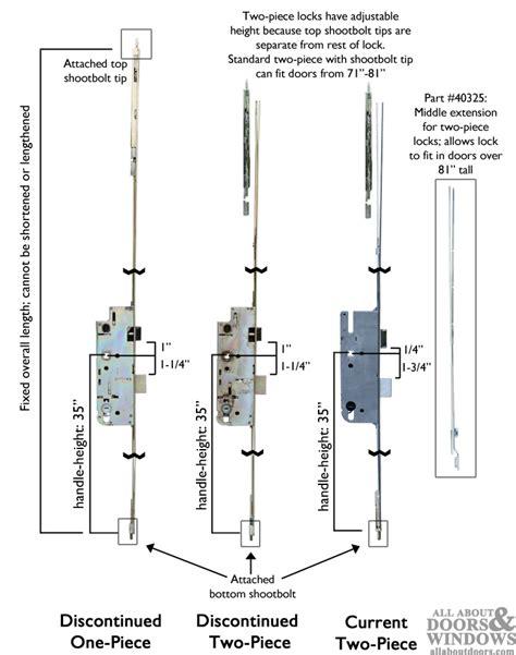 sliding door parts faceplate repair how to replace a gu ferco multipoint lock in a pella door