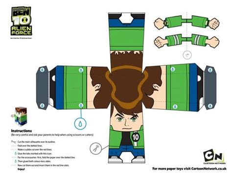 How To Make A Paper Ben Ten - free ben 10 printable papercraft paper craft figures