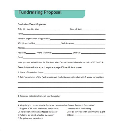sle fundraising proposal template 11 free documents