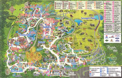busch gardens ta 2009 park map