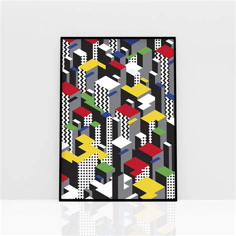 buy wall posters vertical city colour