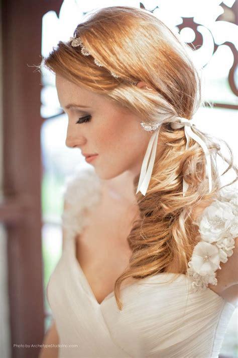 bridal hairstyles side ponytail low side pony tail wedding hair wedding pinterest
