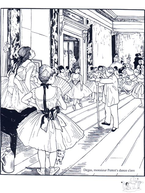artistic coloring pages painter e degas coloring pages