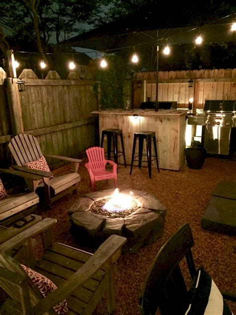 diy pit ideas and backyard seating area 39
