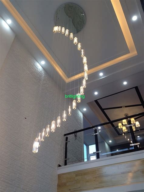 Staircase Ceiling Lighting 12 Ideas Of Staircase Chandeliers