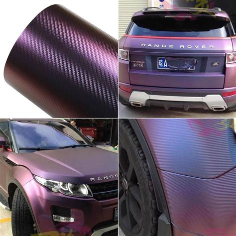 car film wrap malaysia chameleon carbon fiber vinyl film wrap color change auto