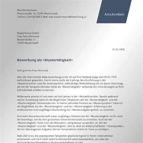 Vorlage Moderner Brief Bewerbungsschreiben Modern Bewerbung Co