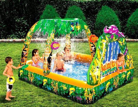 backyard inflatables inflatable water swimming pool backyard garden rain forest