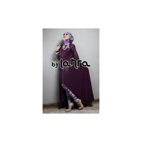 Gamis Muscrape Salem Xl Ready lanra ungu baju muslim gamis modern