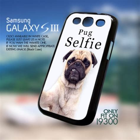 pug selfie pug selfie animal s3 i9300 gotoart accessories on artfire