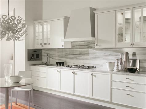 aster cucina cucina laccata lineare con maniglie avenue cucina