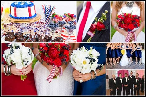 patriotic wedding theme a 4th of july wedding inspirations