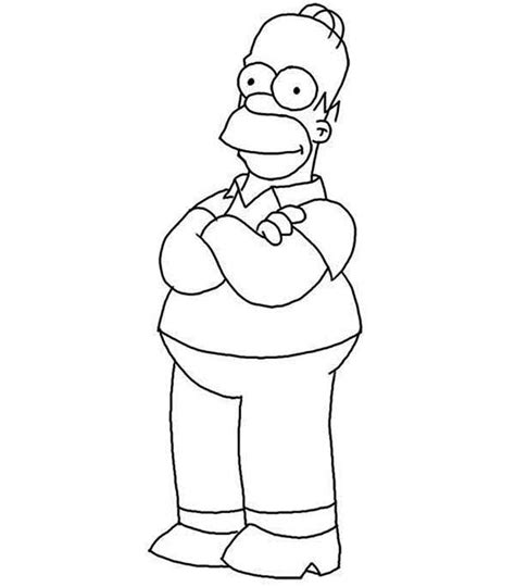 Free Homer Marge Coloring Pages Homer Coloring Pages
