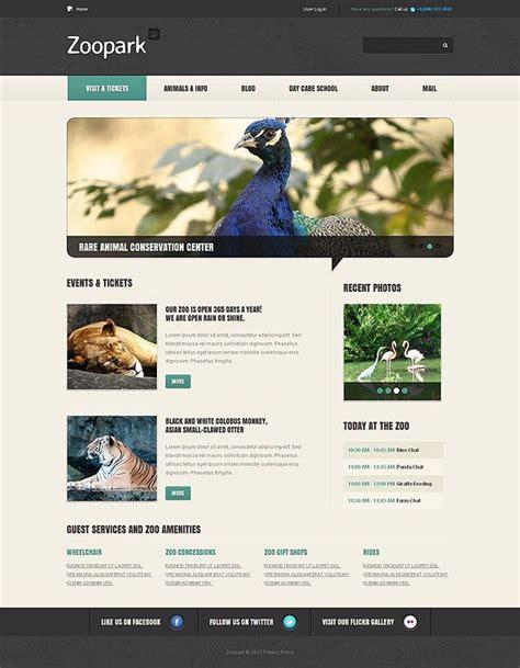 themeforest zoo zoo animals wordpress theme must see web templates