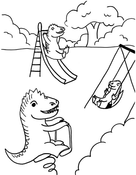 Free Coloring Pages Of Playground Playground Coloring Pages