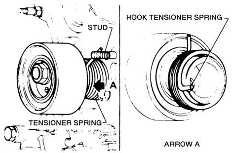 remove a tensioner for a 2000 nissan xterra 2000 volkswagen jetta 2 0l fi 4cyl repair guides