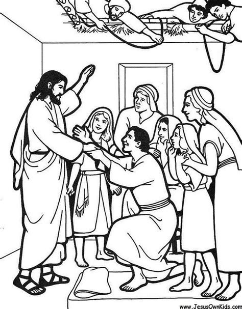 coloring pages jesus heals the paralyzed jesus heals the paralytic colouring sheet sunday