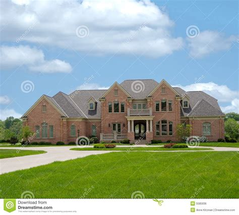 Luxury Colonial House Plans Brick Mansion In Kentucky Usa Stock Photo Image 5585936