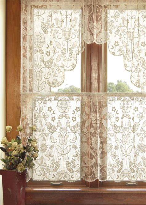 Lace Curtains For Kitchen Folk Folk And Lace On