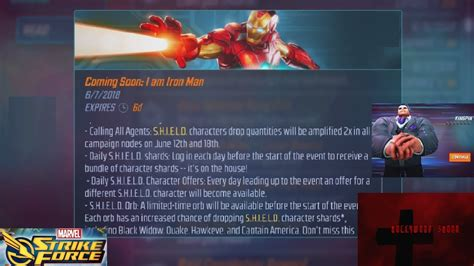 marvel strike force iron man event orbs unlocking