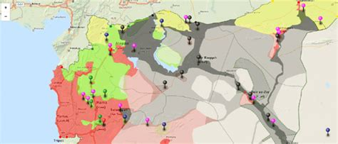 Syria War Template by Maps Mania Mapping The Conflict In Syria