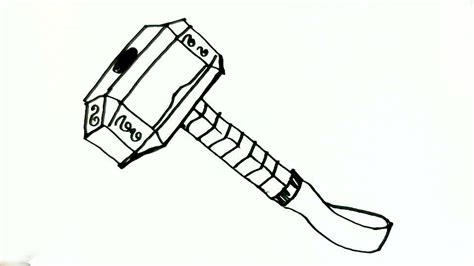 hummer drawing how to draw thor s hammer in easy steps for children