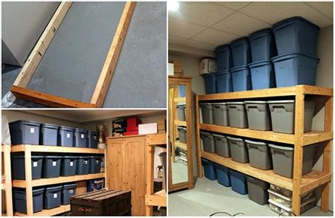 basement storage shelves how to build inexpensive basement storage shelves