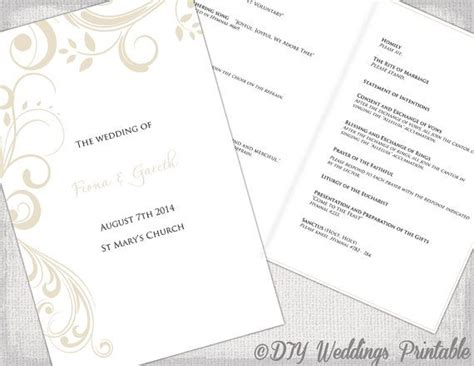 catholic mass card template best 25 wedding program templates ideas on