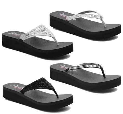 skechers comfort sandals new womens skechers vinyasa lightweight fitness wedge