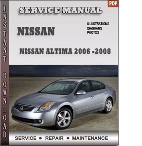 free auto repair manuals 2008 nissan maxima security system 2006 2007 2008 nissan altima service repair manual