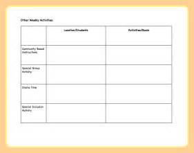 template of lesson plan lesson plans template image search results