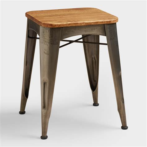 Wood And Metal Stool by Brayden Metal And Wood Stool World Market