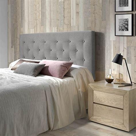 cabecero de cama tapizado oslo      cm capitone en tela gris las mejores ofertas de