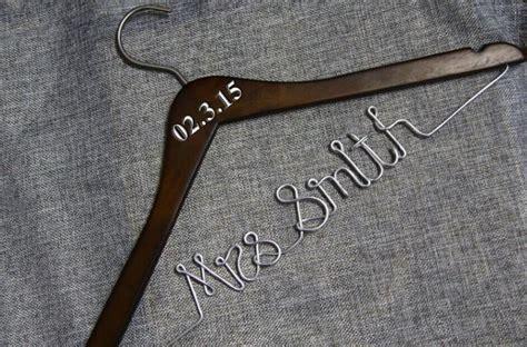 Handmade Wedding Gifts For And Groom - hanger bridal wedding dress hanger custom name